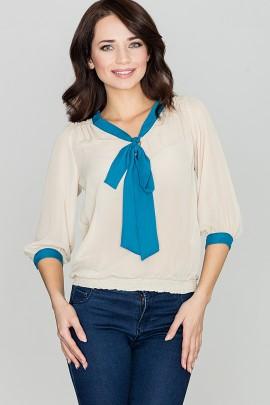 Блузка LENITIF K034 бежевый
