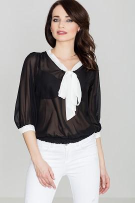 Блузка LENITIF K034 черный