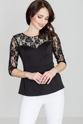 Блузка LENITIF K071 черный