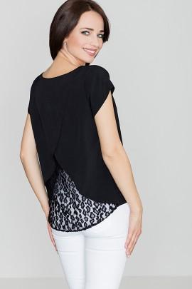 Блузка LENITIF K292 черный