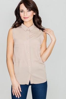 Блузка LENITIF K363 бежевый