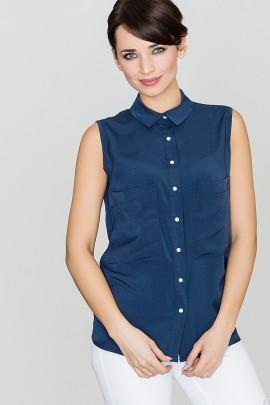 Блузка LENITIF K363 тёмно-синий