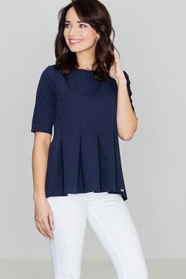 Блузка LENITIF K370 тёмно-синий