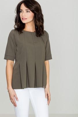 Блузка LENITIF K370 оливковый