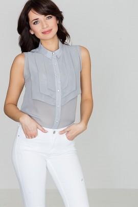 Блузка LENITIF K378 серый