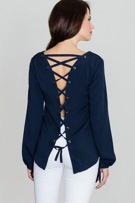 Блузка LENITIF K385 тёмно-синий