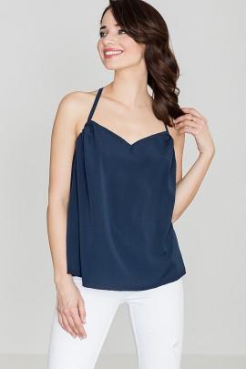 Блузка LENITIF K392 тёмно-синий