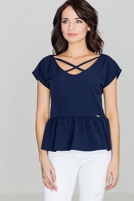 Блузка LENITIF K396 тёмно-синий