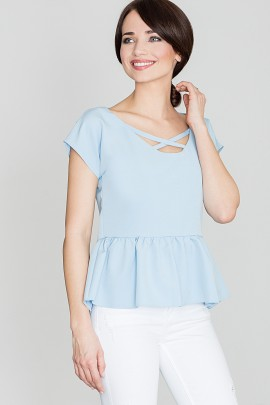 Блузка LENITIF K396 синий