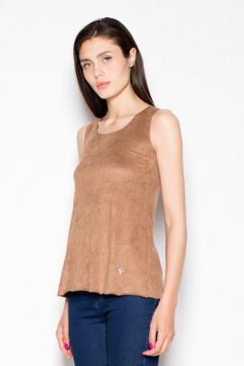 Блузка VENATON VT001 коричневый