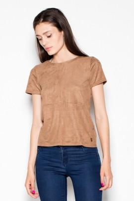 Блузка VENATON VT003 коричневый