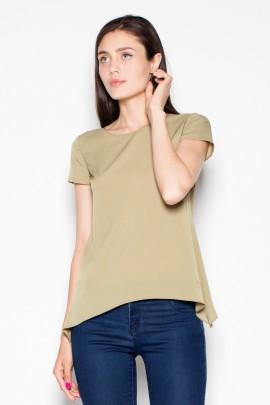 Блузка VENATON VT084 оливковый