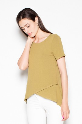 Блузка VENATON VT085 оливковый