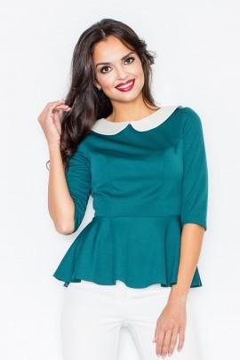 Блузка FIGL M161 зелёный
