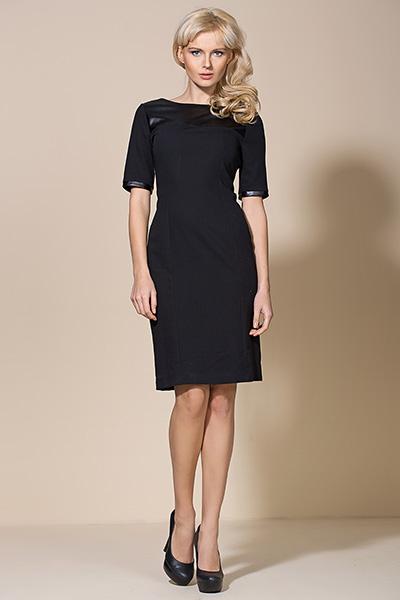 Платье ALORE al04 чёрный-кожа