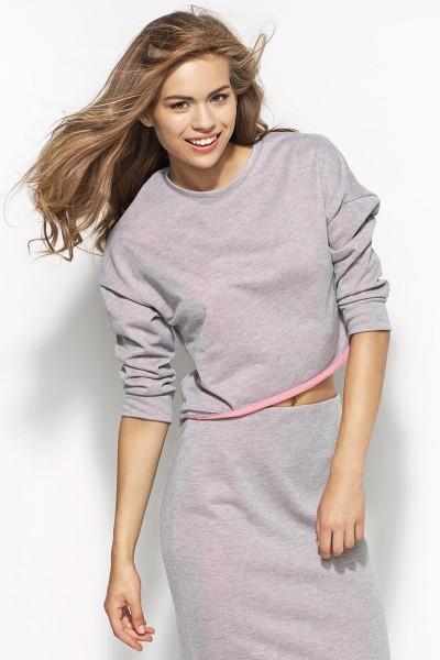 Блузка ALORE al16 серый-роз