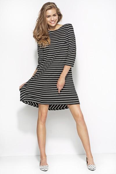 Платье ALORE al25 чёрный-полоски