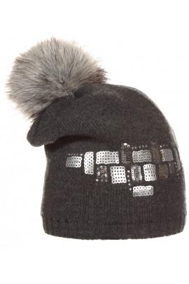 Шапка ANDER 6059 серый 9-11 лет
