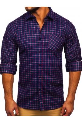 Рубашка Denley F7 granatowo-czerwony