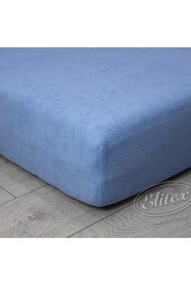 Простыня ELITEX махра светло-синий MAXI
