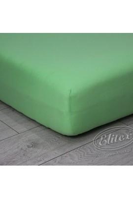Простыня ELITEX джерси светло-зелёный MAXI