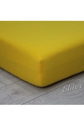 Простыня ELITEX джерси жёлтый MAXI