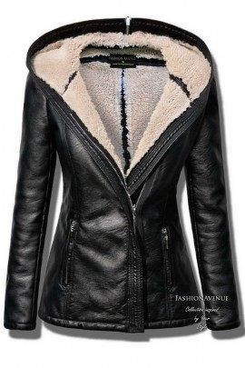 Куртка-дублёнка FASHIONAVENUE женская c капюшоном 78