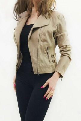 Куртка-косуха FASHIONAVENUE женская утеплённая беж 91-BZ