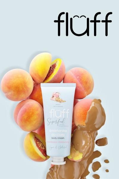 Увлажняющий крем для тела - персики в карамели 150ml