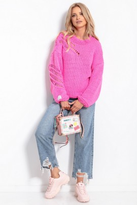 Свитер Fobya F1054 розовый
