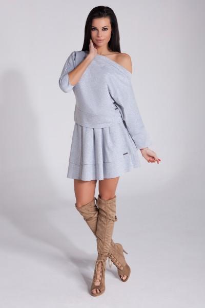 Блузка Fobya f264 серый