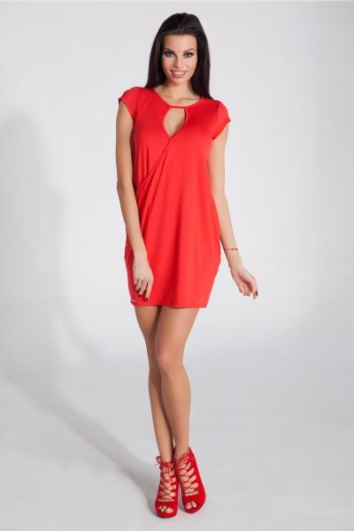 Платье Fobya f277 красный