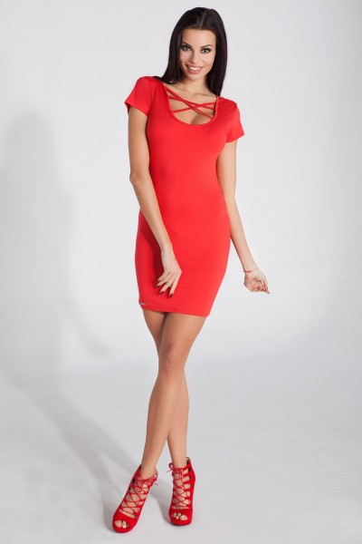 Платье Fobya f278 красный