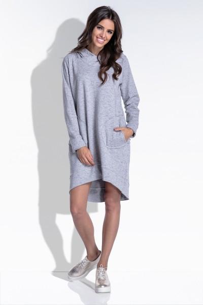 Платье Fobya f433 серый