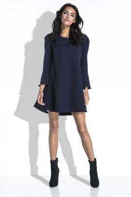 Платье Fobya f454 тёмно-синий