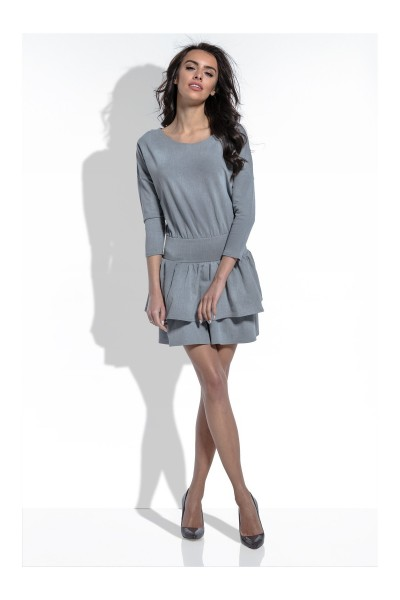 Платье Fobya f458 серый