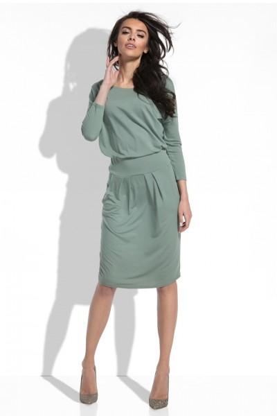 Платье Fobya f467 оливка