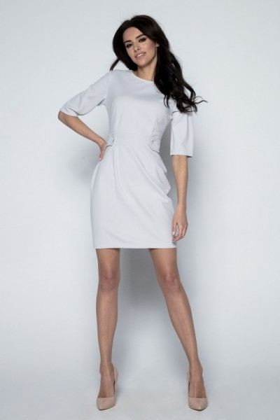 Платье Fobya f492 серый