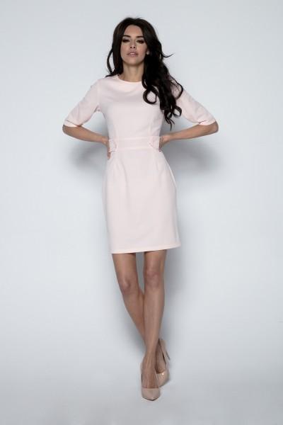 Платье Fobya f492 пудра