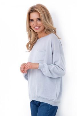 Блузка Fobya f637 серый