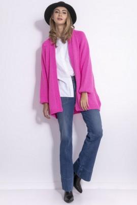 Кардиган Fobya f763 сладкий розовый альпака