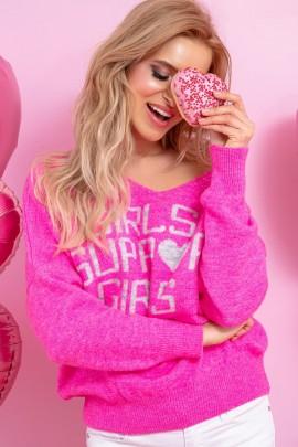 Джемпер Fobya f891 сладкий розовый шерсть