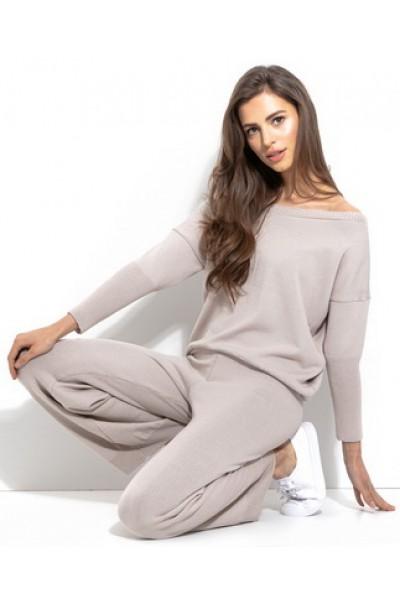 Комплект Fobya f930 беж (блузка+брюки)