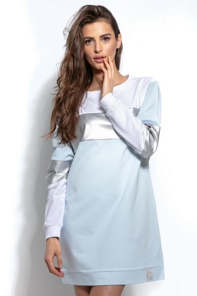 Блуза Fobya f936 голубой хлопок