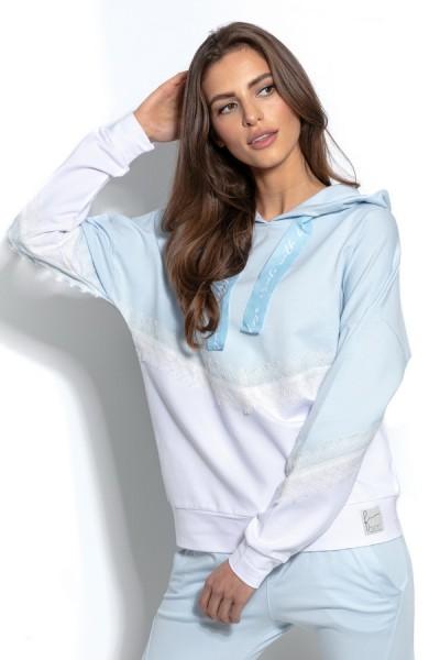 Блуза Fobya f937 голубой хлопок