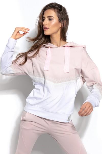 Блуза Fobya f937 пудра хлопок