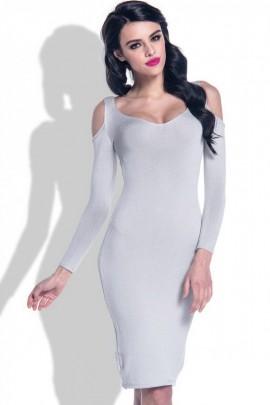Платье Fobya F370 серый