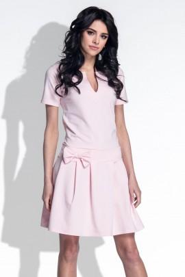 Платье Fobya F374 пудра