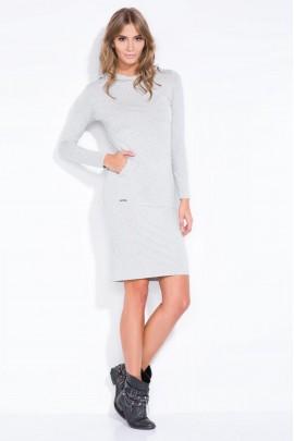 Платье Fobya F318 серый