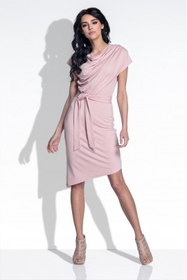 Платье Fobya F378 пудра